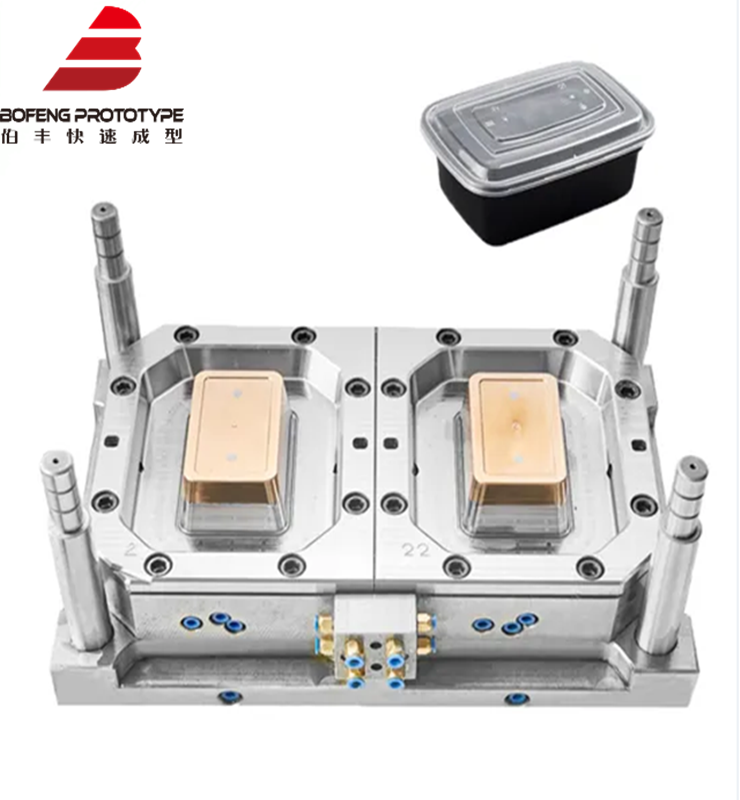 Plastic Thin Wall Rectangular Lunch Box Container Mould