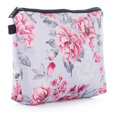 New arrival Flower Printed Women Mack UP Bag High Quality Canvas design Female Cosmetic Bag Mini Fashion Travel Bag For Girls
