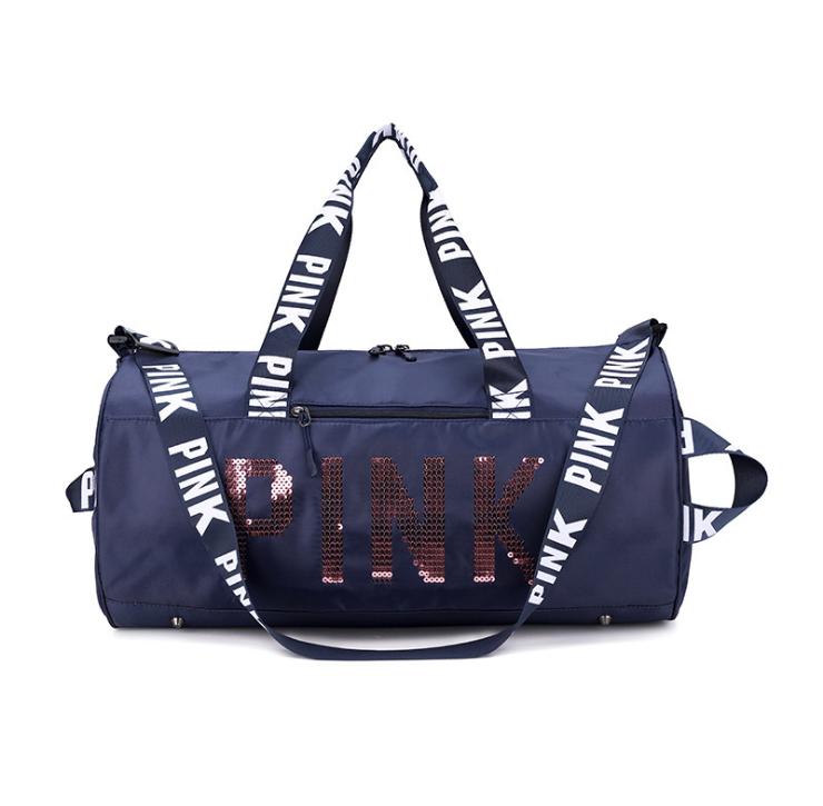 product-Osgoodway2 2020 Hot Sale Designer Ladies Pink Duffel bag Wholesale Waterproof Sport Pink Gym-1