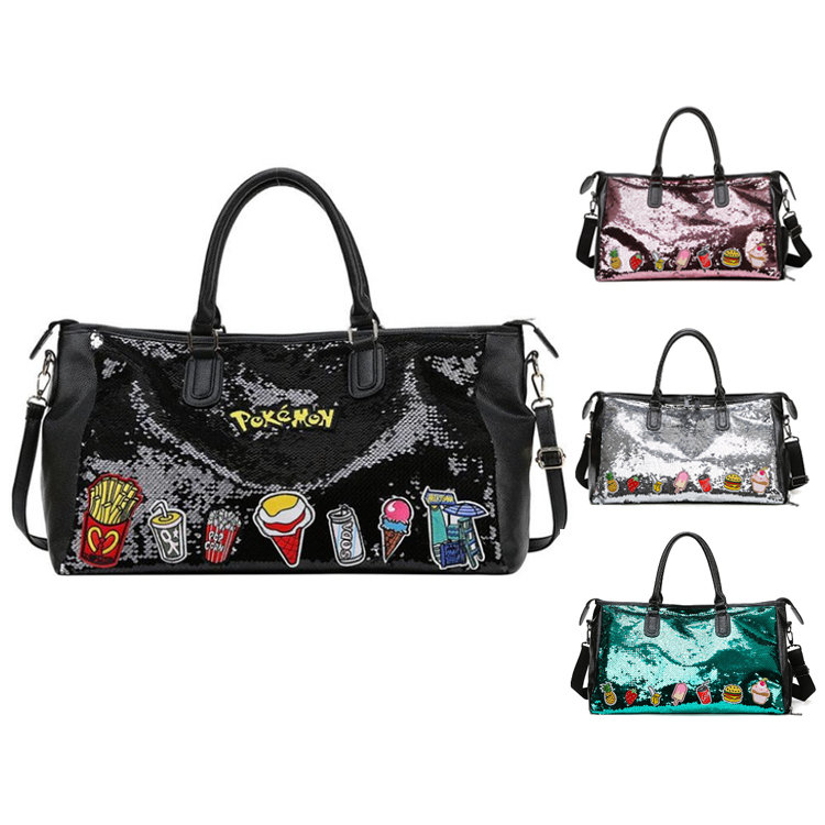 Osgoodway2 Quality personalized Sequin Large fashion duffel tote bag lightweight trendy ladies duffel travel bag