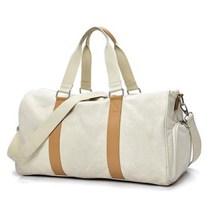 Osgoodway Wholesale Custom Weekend Canvas Gym Sports Travel Duffel Bag with Shoe Compartment