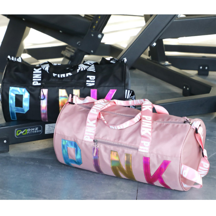 product-Osgoodway2 Hot Selling Wholesale Gym Bag Waterproof Women Pink Overnight Weekend Gym Travel -1