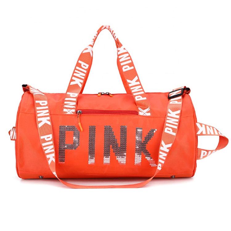 Osgoodway2 2020 Hot Sale Designer Ladies Pink Duffel bag Wholesale Waterproof Sport Pink Gym Bag For Women
