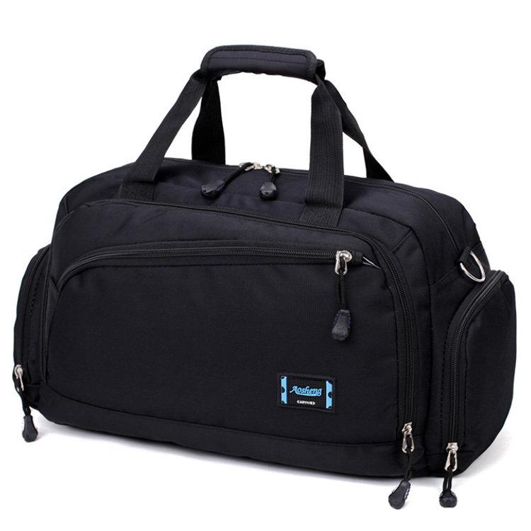 Osgoodway2 Multicompartment Unisex Gym Sports Duffel Bag Black Designer Duffle Bag