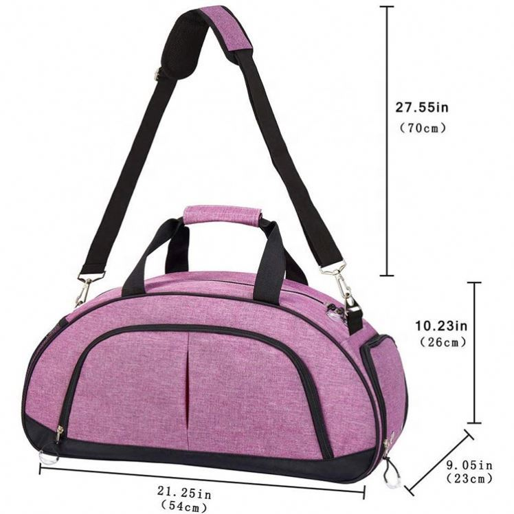 product-Osgoodway Womens Pink Gym Duffle Bag OEM Oxford Travel Duffel Bags for Sport Gym-Osgoodway-i-1