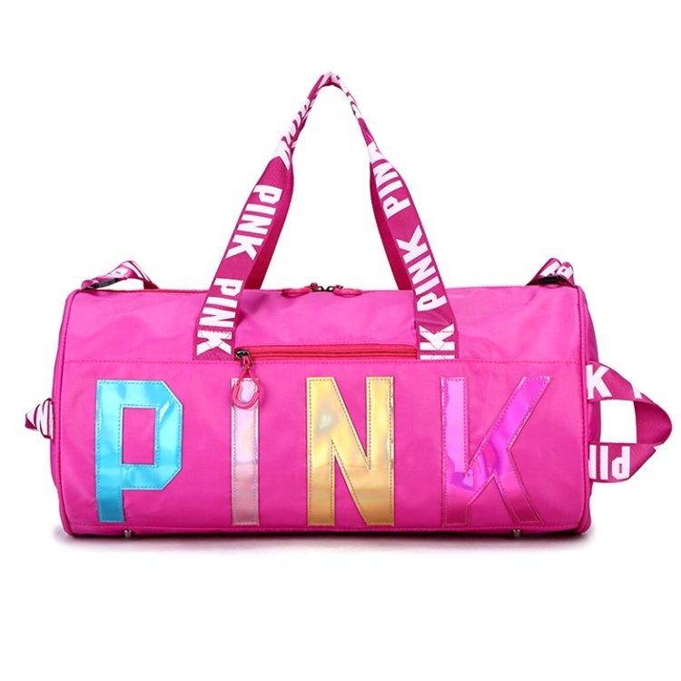 Osgoodway2 Stylish Sport Duffel Bag Women Weekend Portable Glitter Wholesale Pink Gym Duffle Bag for Girls