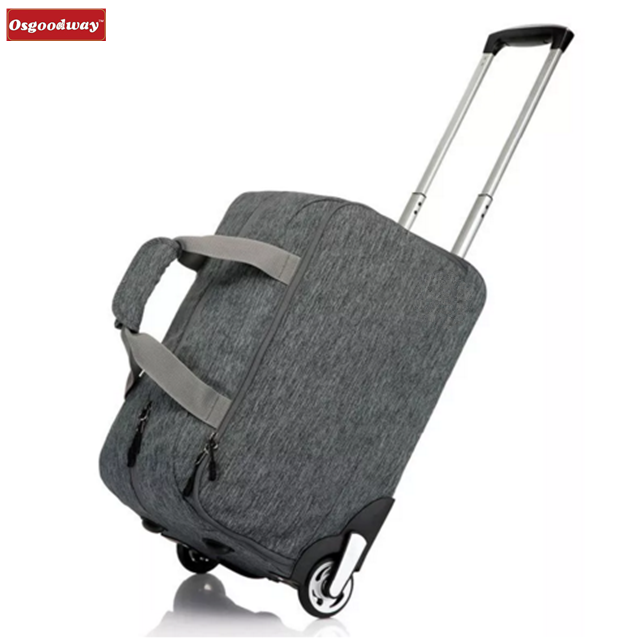 Osgoodway High Quality Wholesale 32L Waterproof Oxford Trolly Travel Hand Bag Luggage Suitcase Wheels Carry On Luggage