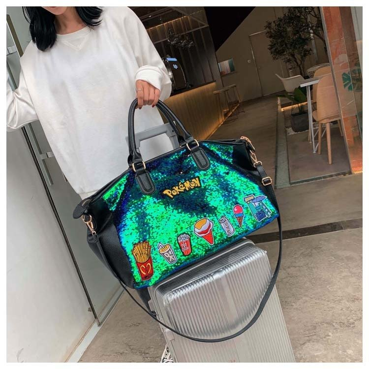 product-Osgoodway2 Quality personalized Sequin Large fashion duffel tote bag lightweight trendy ladi-1