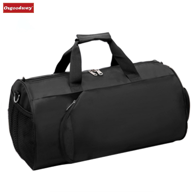 Osgoodway Simple Style Wholesale Waterproof Portable Travel Gym Bag Luggage with Shoes Storage