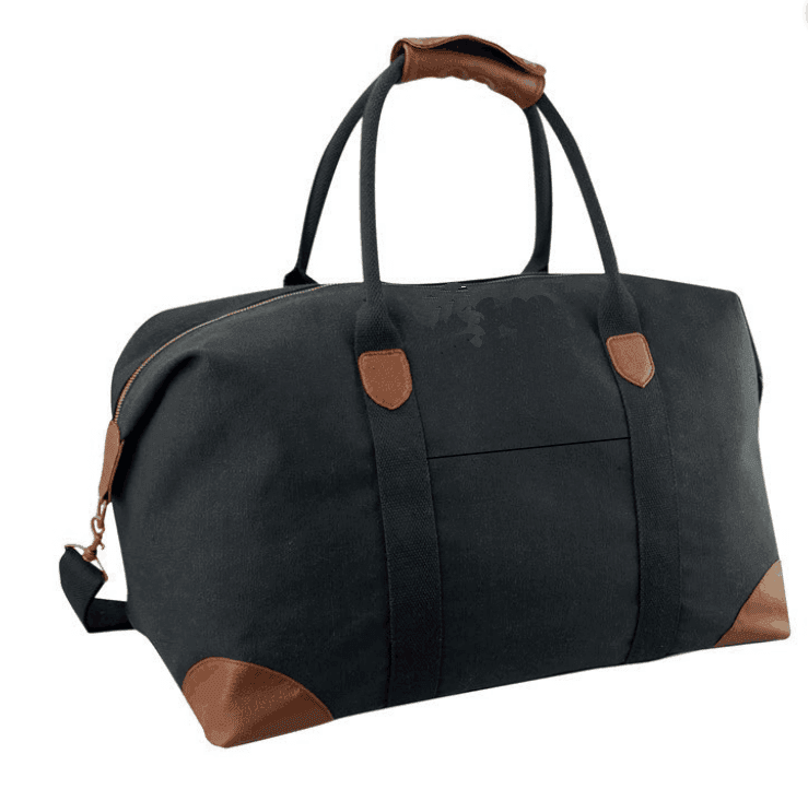 Osgoodway Hot Sale Canvas Travel Bags Sports Weekend Duffle Bag With Leather Handle