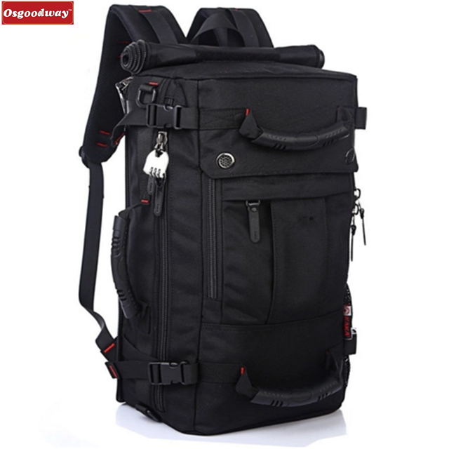 Osgoodway High Quality Brand Fashion Multi-purpose Anti-theft Men Travel Backpack for Hiking Outdoor Trip
