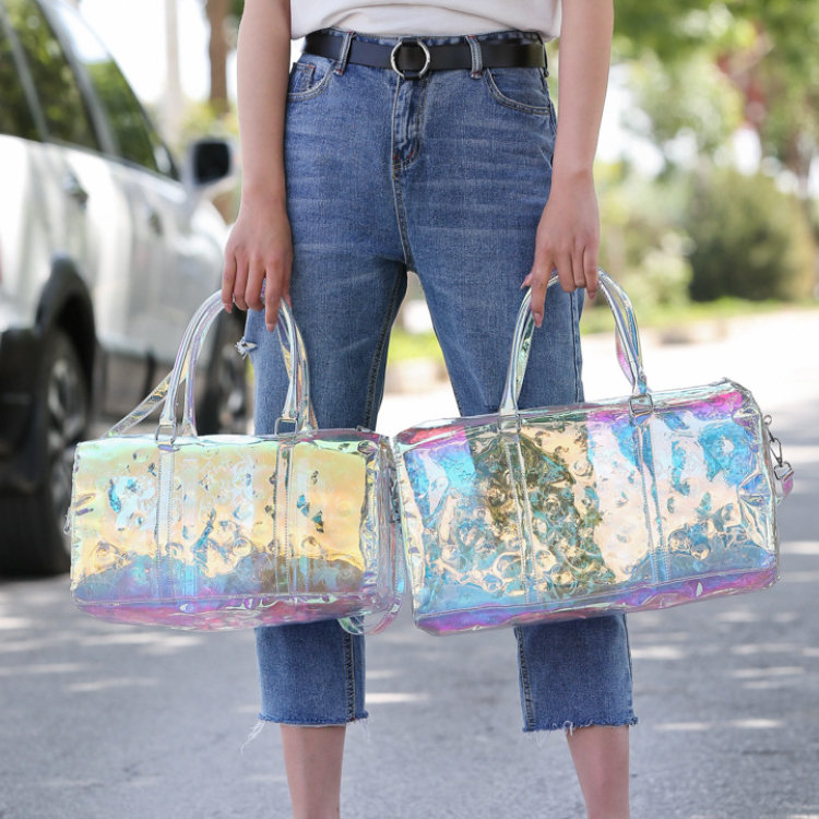 product-Osgoodway-Osgoodway 2020 Fashion Summer Duffel Tote Bag Women Trendy Overnight Transparent P