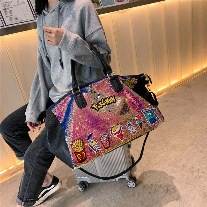 product-Osgoodway-Osgoodway2 Quality personalized Sequin Large fashion duffel tote bag lightweight t