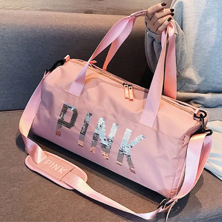 product-Osgoodway-Osgoodway2 Waterproof Sports Swim Women Gym Bag Pink Travel Duffel Bag with Dry We