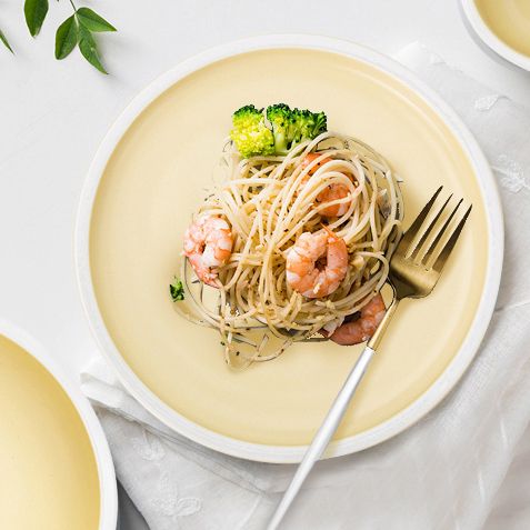 Wholesale High Temperature Colourful Matt Plate, Custom Logo Ceramic Plates Dishes, Hotel Ceramic Plate/