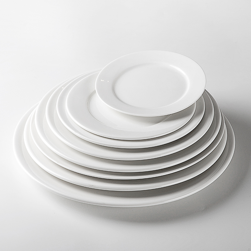 Heat Resistant Hotels White Porcelain Dishes, Catering Wholesale Porcelain Dish Set, Wedding Porcelain Plates In India@