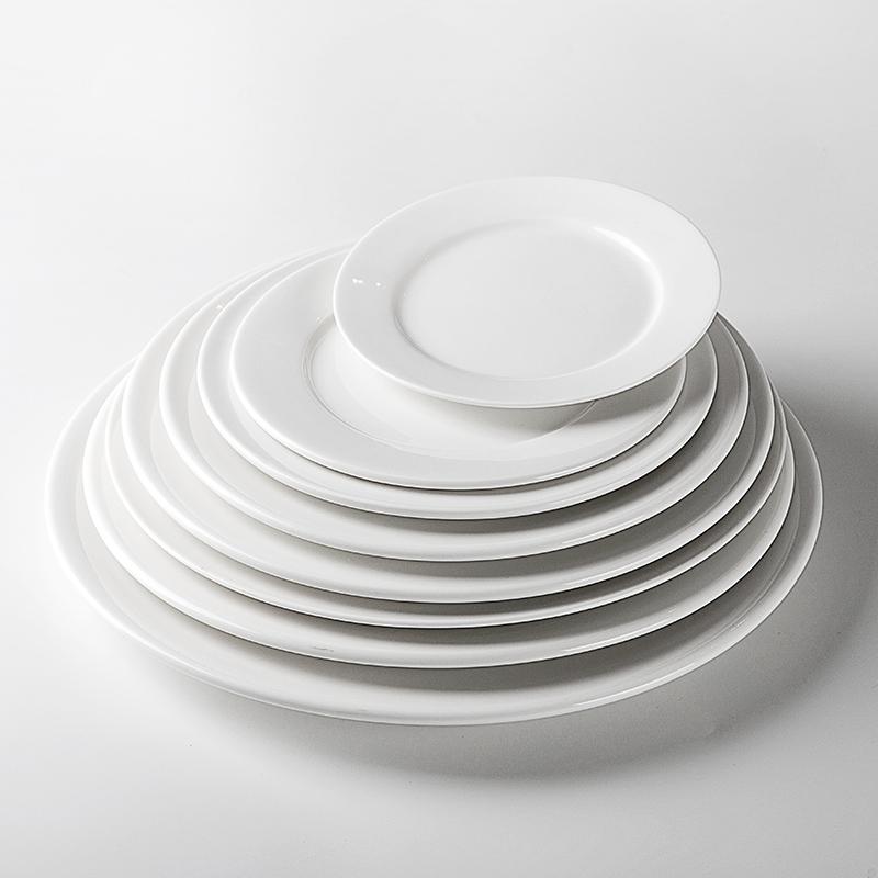 Heat Resistant Hotels White Porcelain Dishes, Catering Wholesale Porcelain Dish Set, Wedding Porcelain Plates In India@