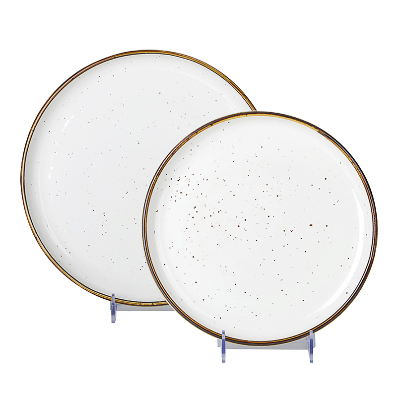 Sales Promotion Best Choice 8 Inch Couple Plate, Wholesale Restaurant Round Elegance Porcelain Plate, China Dishes*