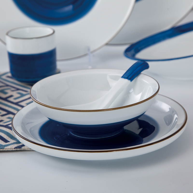 round design porcelain dessert fruits serving ceramicbread & butter plate
