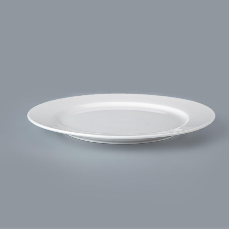 Eco-friendly Ceramic Hotel BuffetWhite Ceramic Dishware, White Porcelain Plates Guangzhou/