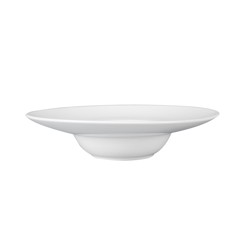 Luxury Catering Pasta Dishes Plates Ceramic Dinner, Banquet Tableware Hotel Dishwasher Safe Party & Event Soup Plates White&