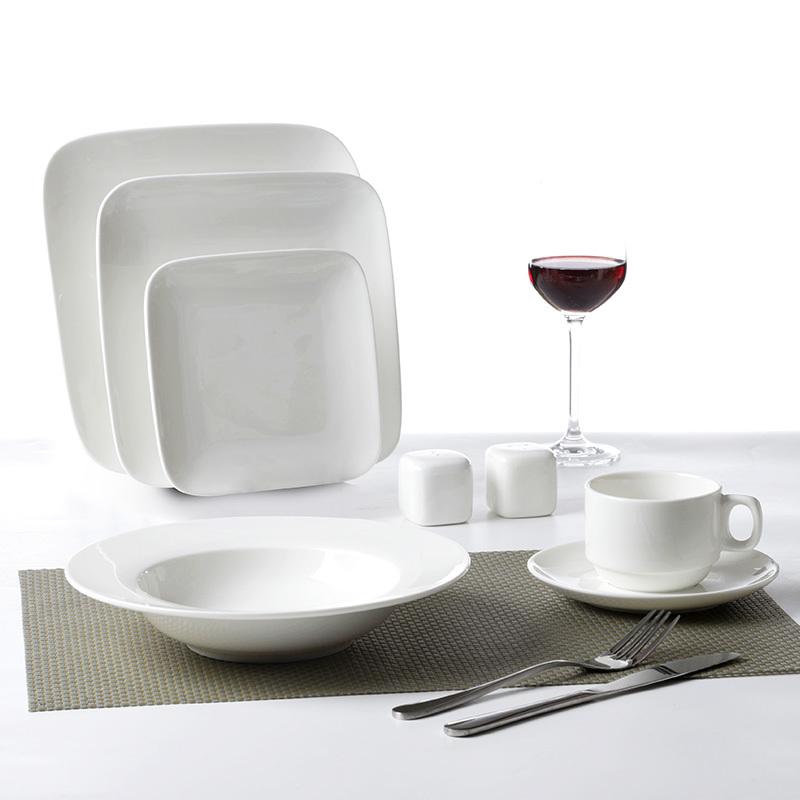 Royal White Fine Porcelain Plate, Designed Plates Ceramics Dinner, Plates Restaurant Porcelain Dinnerware Set