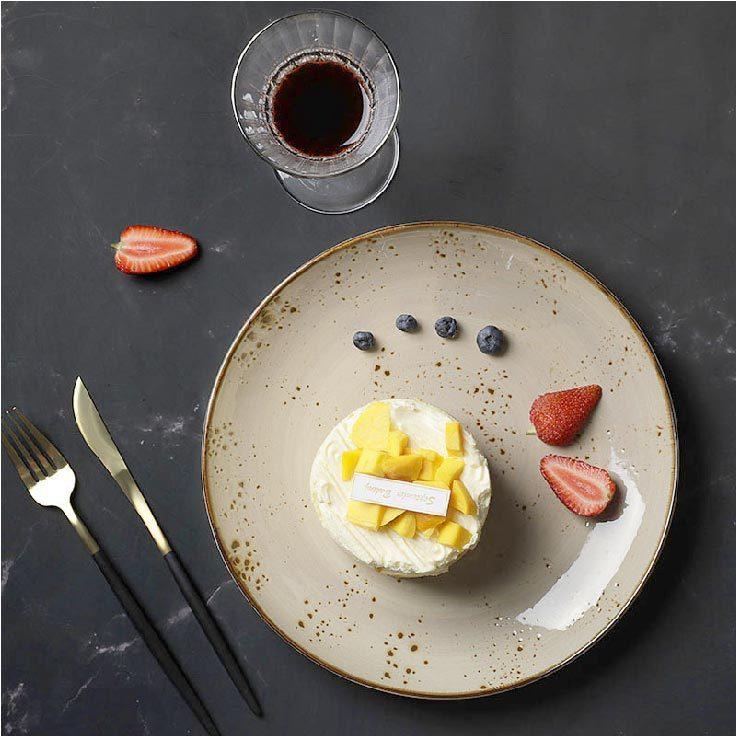 28ceramics Rustic Restaurant Tableware Food 8.25/10.5 Inch Inch Serving Plate, 28ceramics Rustic European Tableware Cafe Plates@