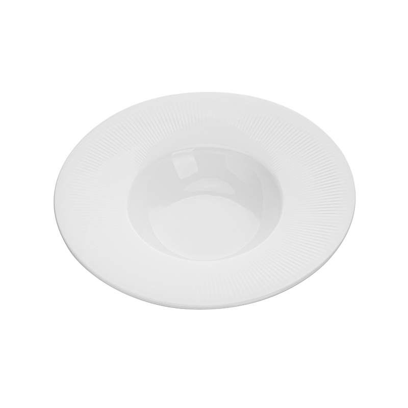 New Product Ideas 2019 Innovative for Hotels Durable Dishwasher Safe,Plates used in Restaurants, Wide Rim Bowl