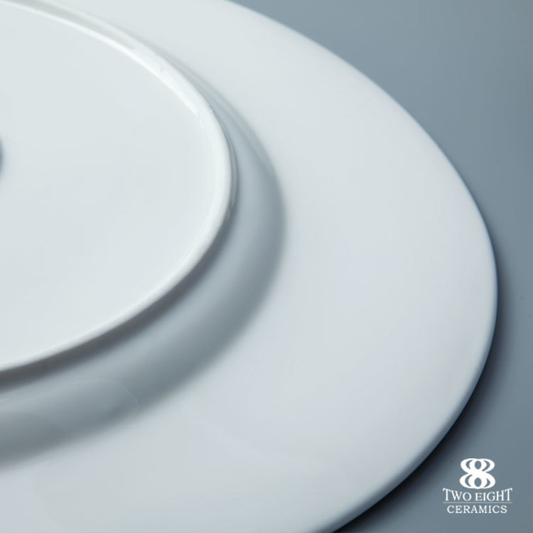 wholesale cheap white porcelain dinner plates gourmet coupe plate