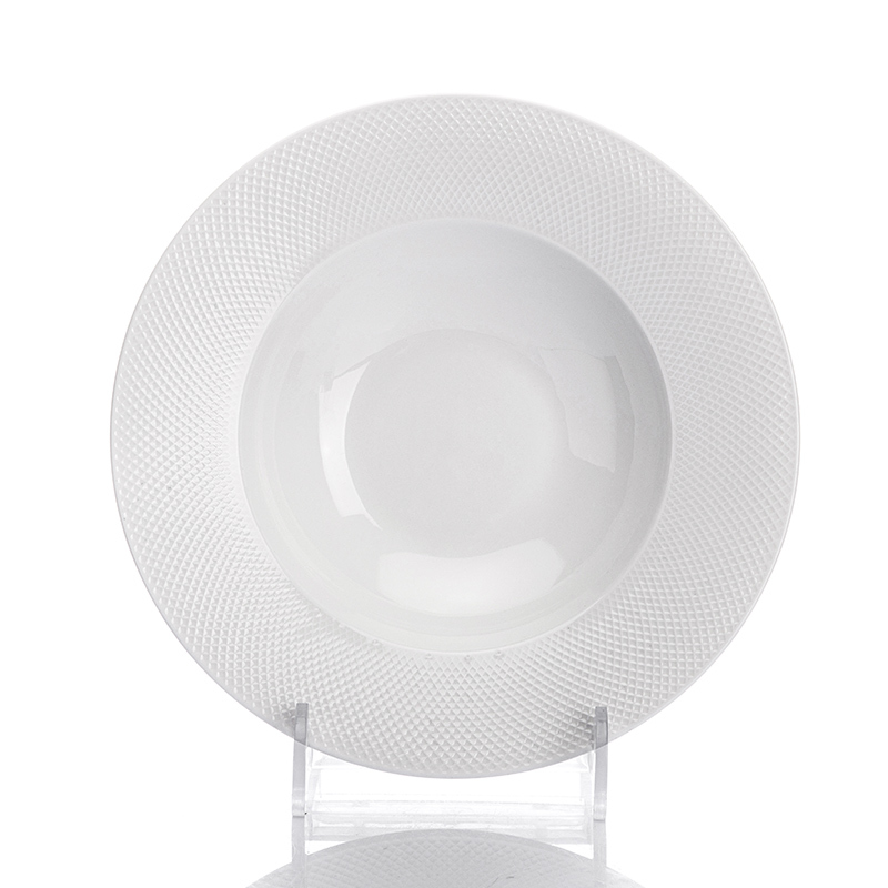 Best Selling Products High Temperature Cafe Dinning Plate,Wide Rimmed Pasta Bowls, Restaurant Pasta Plates@