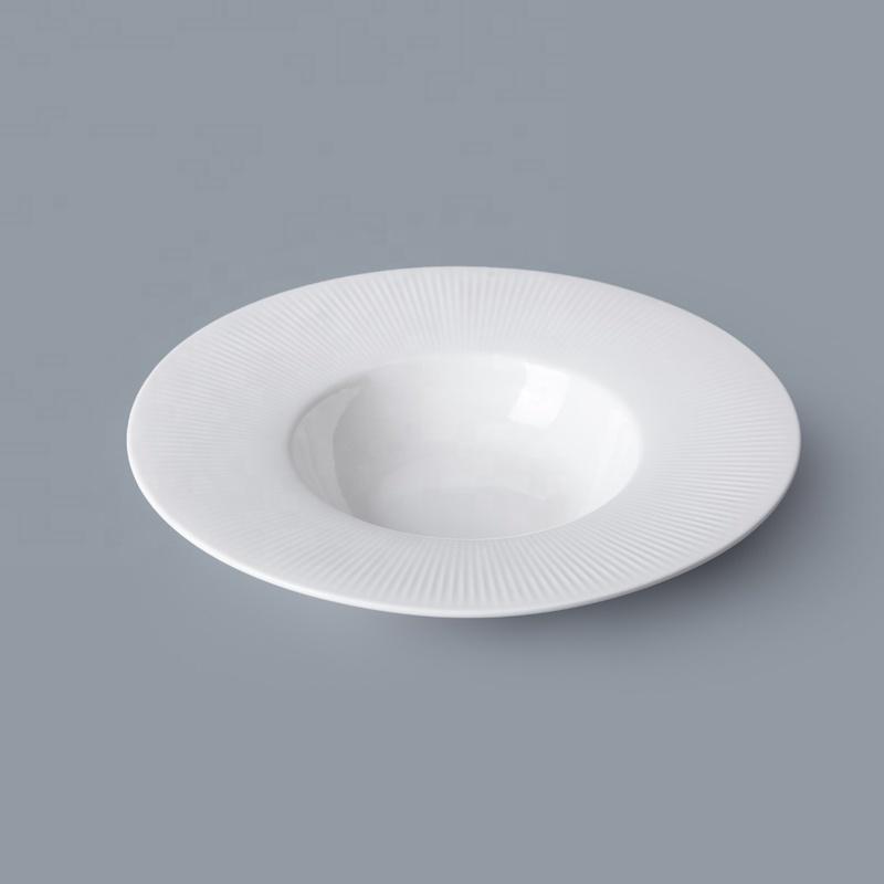 Chaozhou Manufacturer Restaurant Tableware Porcelain Salad Plate, Porcelain Plates White Salad Plate#