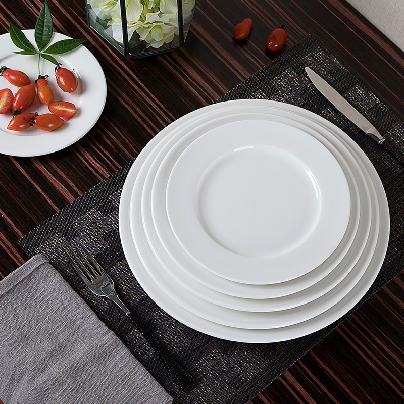 28ceramics Restaurant Tableware Ceramic 14/16 Inch Serving Plate, 28ceramics China Tableware Ceramic Plate Restaurant~