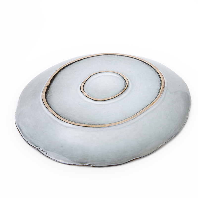 Special Dish washer Safe11inch Green Rustic Hotel Used Dinner Plates,Catering Serving Dishes, Restaurant Serving Plate