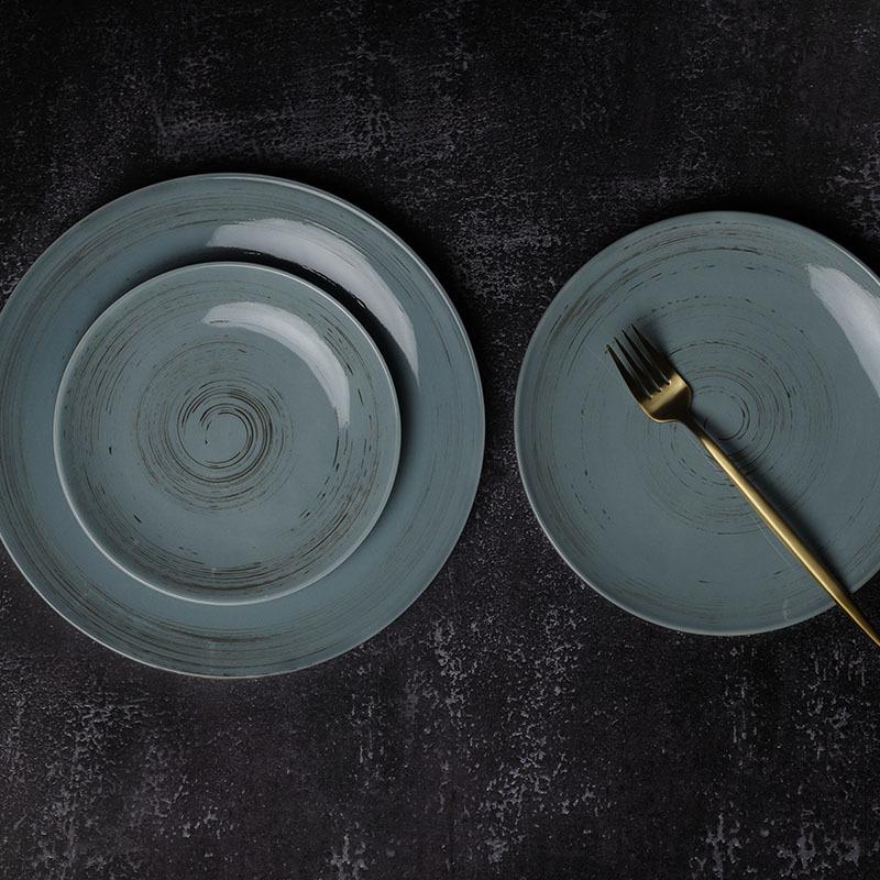 28ceramics Plates Sets Dinnerware Porcelain Plates Restaurants Ceramic, 7/9/11 Inch Dinnerware Ceramic Plates For Restaurants~