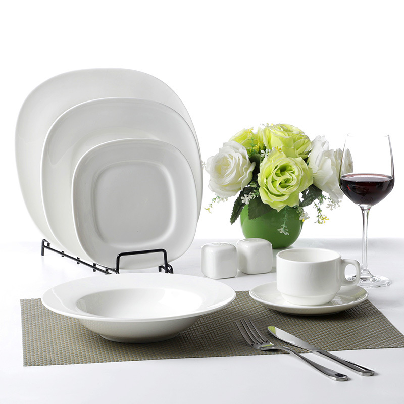 11.25 Inch Square Plates Serving Dishes Buffet Dinnerware Square Plates