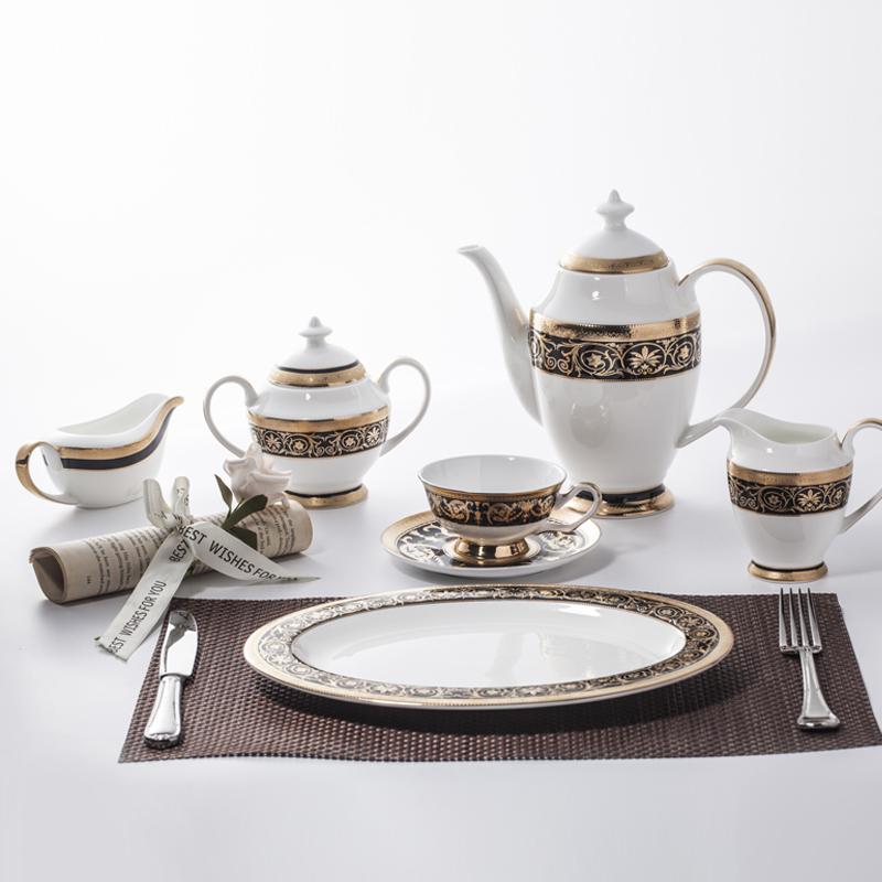 good looking bone china dinner set for home restaurant hotel