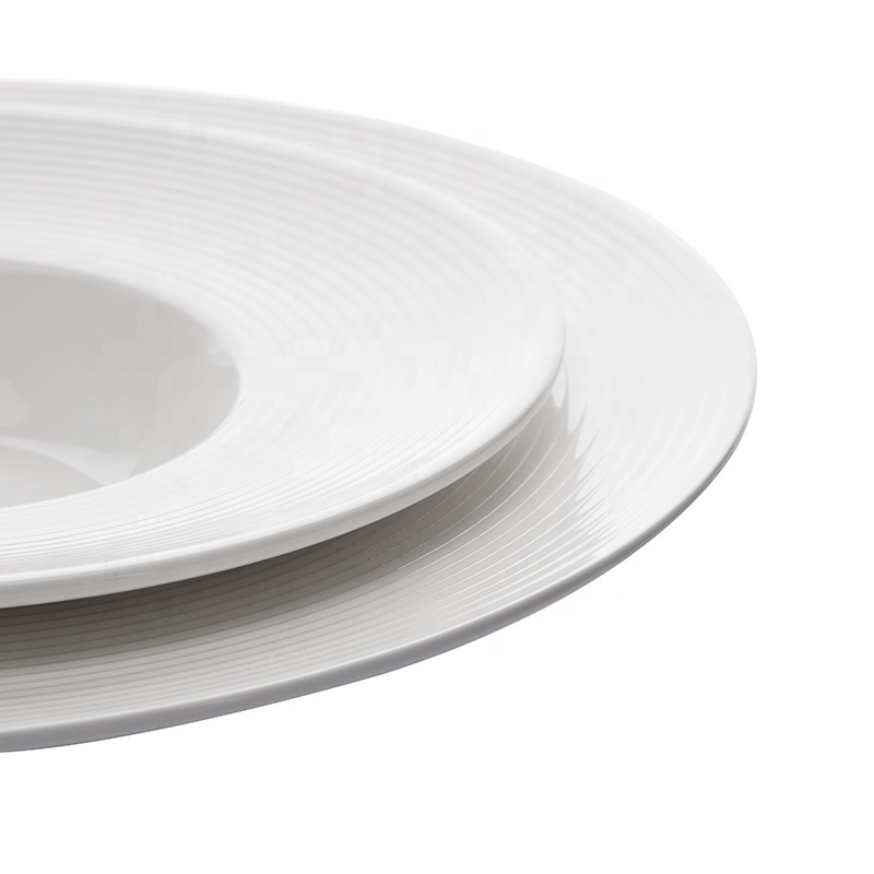 Best Selling Products Oven Safe Catering Restaurant Plates Set, Crockery Tableware Hotel Brand Dishes, Popular Pasta Plate&