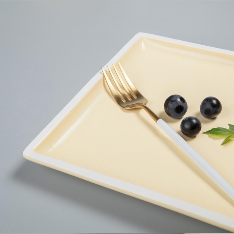 28ceramics Hotel Restaurant Used Crockery Tableware Restaurant 8/9/10 Inch Plates Ceramic Dinner, Ceramic Dish Square&