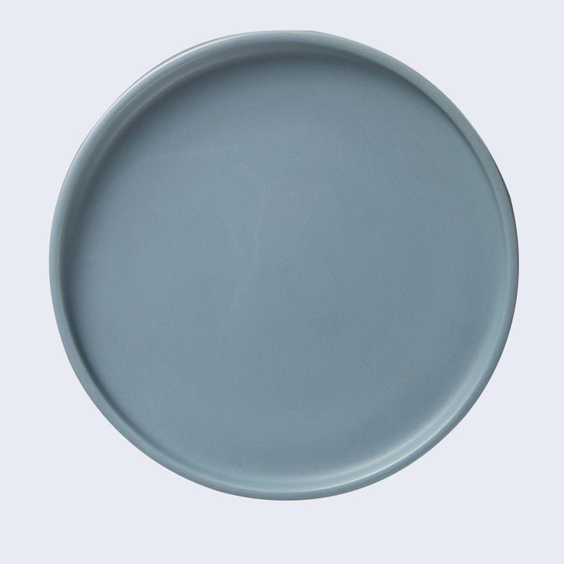 wedding ceramic salad plate japanese black ceramic plate supplier