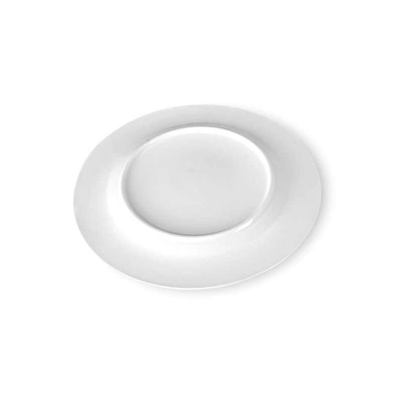 White Round Plates Ceramic Dinner, Grid Style Dishes Dinnerware Sets Plates, Eco Plate Set Manufacturer