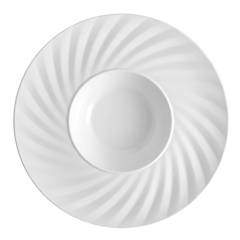 Hotel 9.25/12 Inch Deep Plates Dinnerware Porcelain Salad Used Restaurant Dishes For Sale
