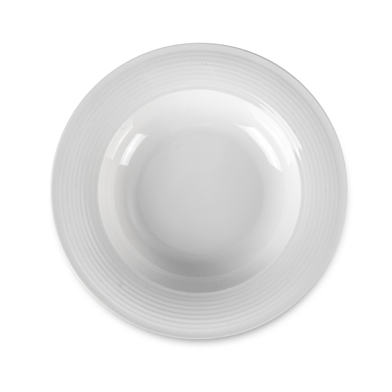 Microwave Safe Banquet Horeca Ceramic, Wedding Catering Appetizer Crokery Porcelain Pasta, Restaurant White Dining Plate Set@