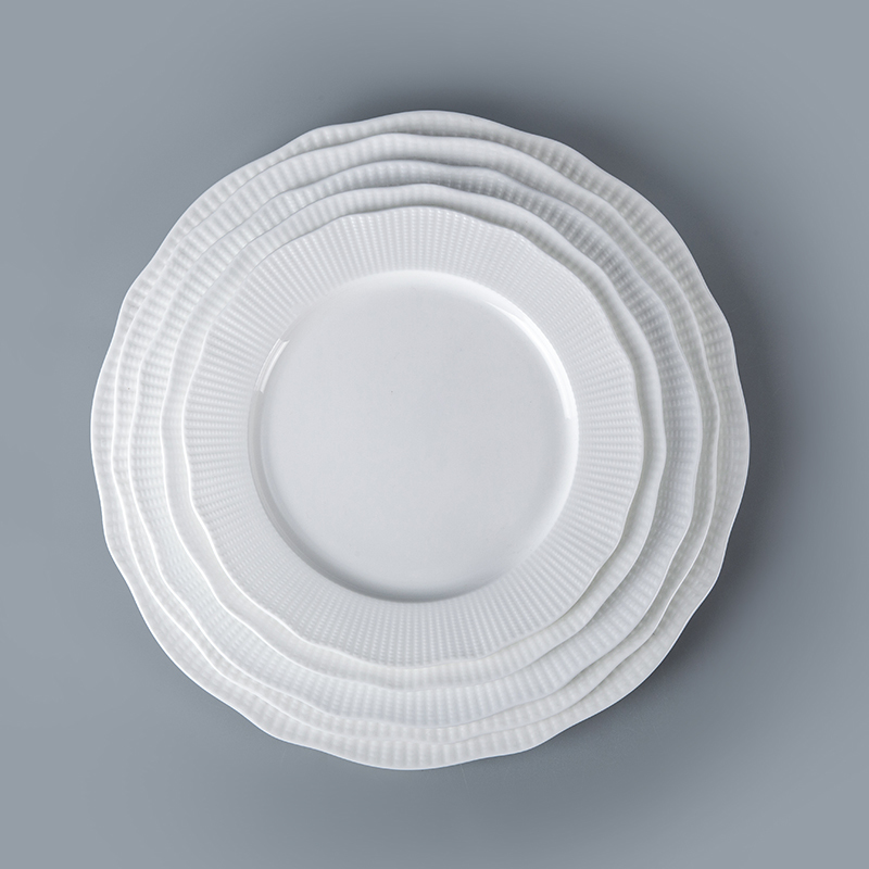 wholesale durable modern coupe plate white porcelain coupe plate hotel restaurant use coupe plate