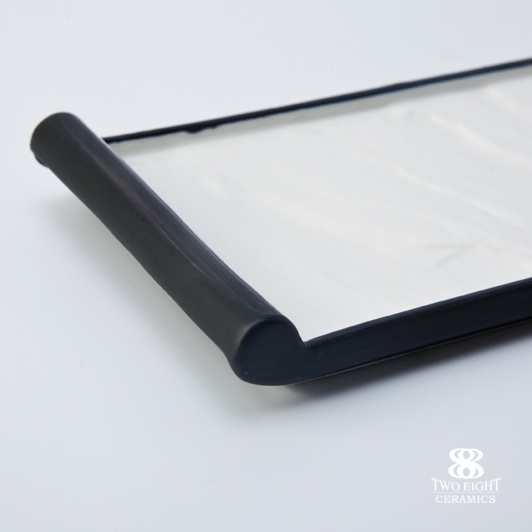 2017 New design restaurant crockery tableware matt black sushi plate