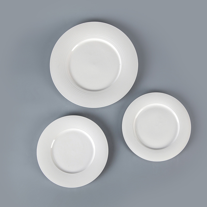 Eco Friendly Productos Innovadores luxury Porcelain Tableware Dinner Plates White, Hot Selling Cafe Hotel Brand Dishes$