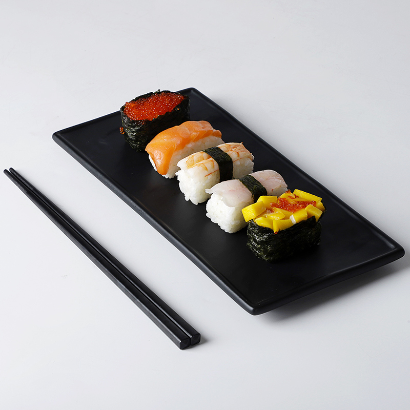 Restaurant Plato Rectangular, Better Quality Japanese Sushi Dish Set, Hotel Dishes Black/