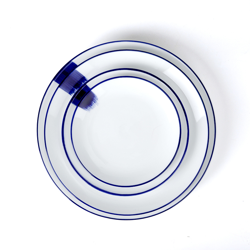 Wholesale Mexican Restaurant Bule Plate Dinner Plates Used In Wedding