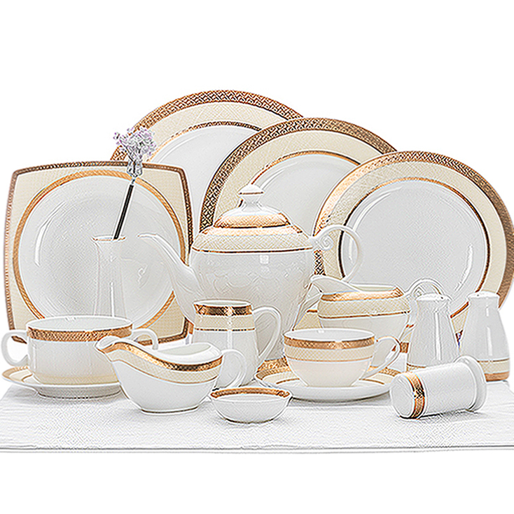 Hotel Collection Dinnerware Bone China, Used Restaurant Luxury White Fine Bone Chinat, Fine Bone China Dinner Sets*