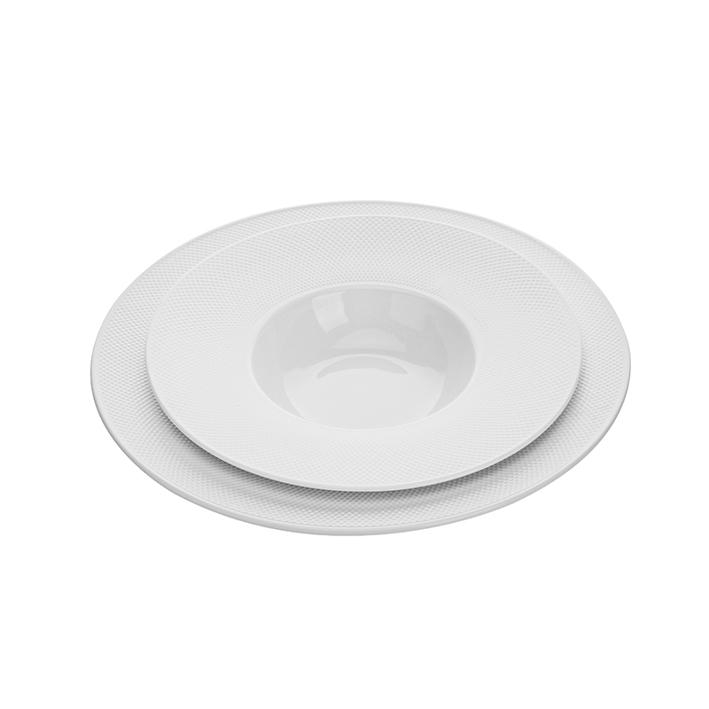 Wholesale Crokery Tableware Wedding Dishes Royal Soup Plate 9.25 Inch, Hot Selling Hotel Hotel Dessert Plate Porcelain>
