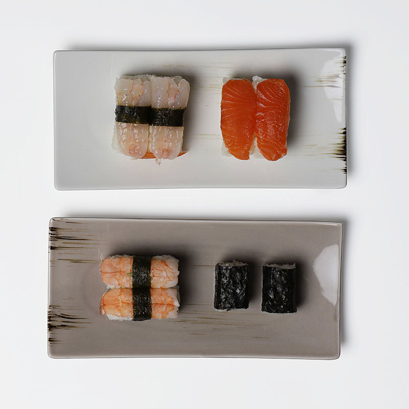 28ceramics Japanese Tableware Retangular plate, 8.5/13.75 Inch Sushi Plate Ceramic, Rectangular Plates*